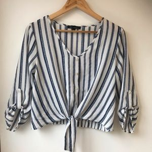 Kaii Los Angeles Summer Tie Front Blouse